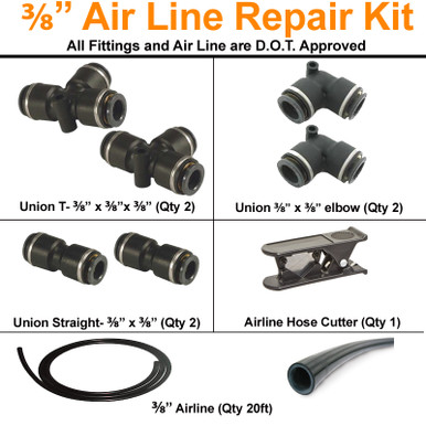 "3/8"" Airline Repair Kits is the perfect solution for repairing 3/8"" airline."