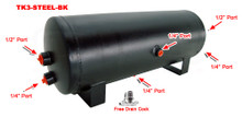 3 Gallon Steel Tank with 6 Ports- Black