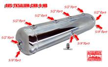 5 Gallon Aluminum Tank with 9 Ports- Chrome
