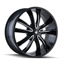 Mazzi 366 Obsession Gloss Black/Machined Face 24X9.5 5-115/5-120 18mm 74.1mm