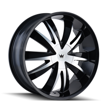 Mazzi 337 Edge Gloss Black/Machined Face 20X8.5 5-115/5-120 18mm 74.1mm