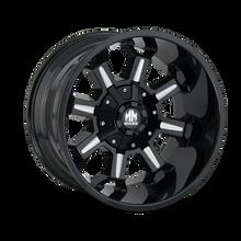 Mayhem Combat 8105 Gloss Black/Milled Spokes 20X9 8-180 0mm 124.1mm