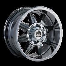 Mayhem 8100 PVD2 Chrome 22X10 8-180 -19mm 124.1mm
