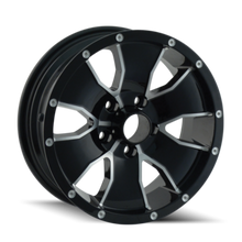 Ion Trailer Wheels 14 Black/Machined Face 15X6 5-114.3 0mm 83.82mm