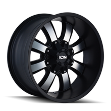 ION 189 Satin Black/Machined Face 20X10 8-165.1/8-170 -19mm 130.8mm