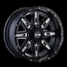 Ion 184 Satin Black/Milled Spokes 17X9 5-114.3/5-127 -12mm 87mm