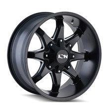 ION 181 Satin Black Milled Spokes 20X12 5-150/5-139.7 -44mm 110mm