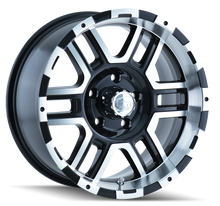 Ion 179 Black/Machined Face/Machined Lip 17X8 6-114.3 10mm 83.82mm