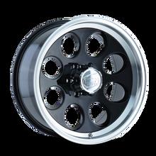 Ion 171 Black/Machined Lip 17X9 8-170 0mm 130.8mm