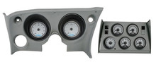 1968-77 Chevy Corvette VHX Instruments w/ Analog Clocks silver and white