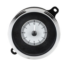 1941-48 Chevy Car Analog Clock Silver Alloy Background