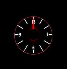 1951 Ford Car Analog Clock White Night View