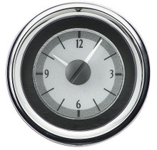 1955-56 Chevy Car Analog Clock Silver Alloy Background