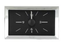 1957 Chevy Car Analog Clock Black Alloy Background