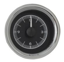 1958-62 Chevy Corvette Analog Clock Black Alloy Background