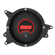 1969-1970 Ford Mustang Digital Clock Carbon Fiber and Red