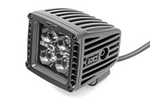 2-IN Square Flush Mount Cree LED Lights (Pair / Black Series w/ Cool White DRL) side view