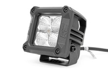 2-IN Square Mount Cree LED Lights (Pair / Chrome Series w/ Amber DRL) Closer view