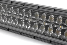 30-IN Curved Cree LED Light Bar (Dual Row / Black Series w/ Amber DRL) close up view