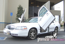 Vertical Doors 1998-2006 LINCOLN TOWN CAR Bolt on Lambo Door Kit