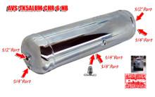 5 gallon Chrome 6 Port Aluminum Air Tank No Bracket