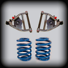 """63-72 C-10 3"""" Front 4"""" Rear Lowering Kit W/ Control Arms and Springs"""
