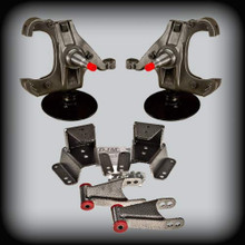 """73-87 C-10,3""""Front Lowering Spindles,4""""Shackles&Hangers W/ 1.25"""" Rotor"""