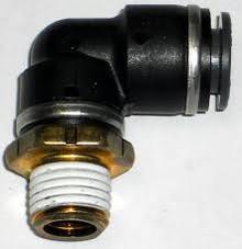 "Elbow- Male 1/4"" NPT x 3/8"" Tube SMC Brass"
