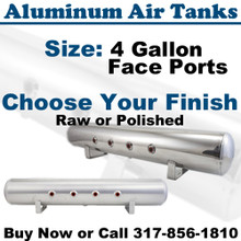 4 Gallon Aluminum Air Tank Front Ports