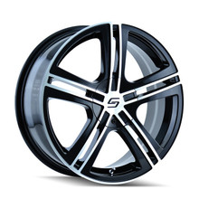 Sacchi 262 Black/Machined Face 18x7.5 5-100/5-114.3 40mm 72.62mm