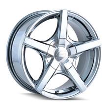 Sacchi 272 Chrome 15X7 5-100/5-114.3 40mm 72.62mm