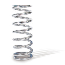 "Chrome Coil Spring, 10"" free length, 200 lbs/in, 2.5"" ID"