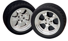 "22"" Wheelplate Pol. Stainless steel (set of 4)"