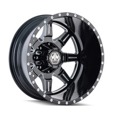Mayhem 8101 Monstir Rear Black Milled Spokes 20x8.25 8x165.1 -160mm 121.7