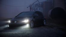 15-16 VW Golf Air Lift Manual Combo Kit- Front View
