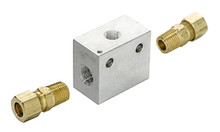 Inline Transmission Temperature Sender Block - 3/8