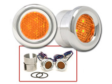 Round LED Marker Lights Amber