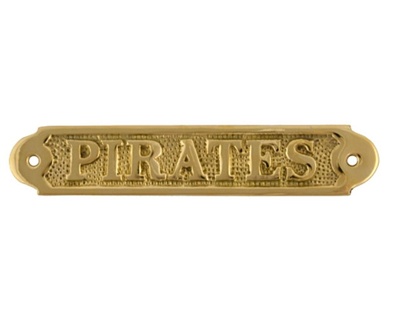 7 inch brass pirates name plate plaque - Brass name plate designs for home ...