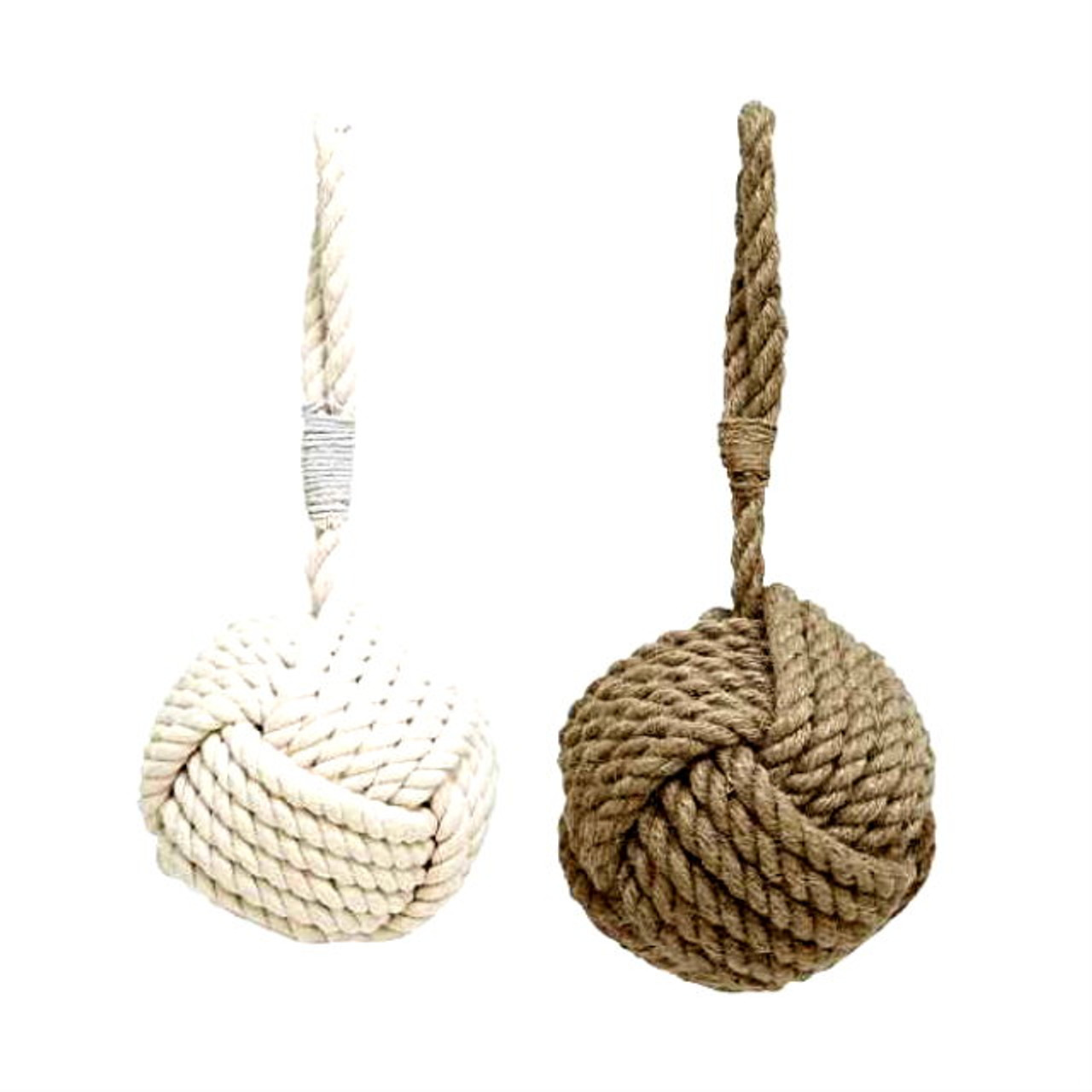 Large nautical rope door stops for Large nautical rope