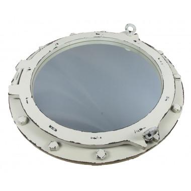 """24"""" Nautical Decor Antiqued Porthole Mirror"""