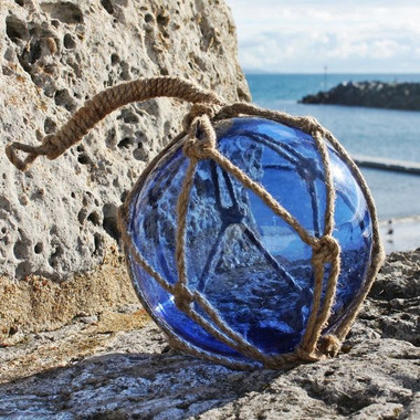 Blue Glass Coastal Ball