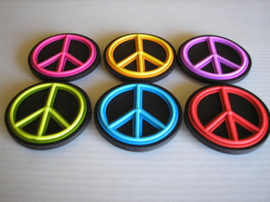 Refrigerator magnets Peace Signs - Six piece set