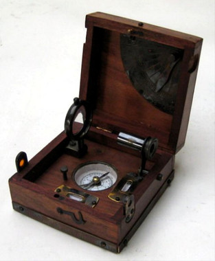 Brass Spirit Level Alidade Clinometer