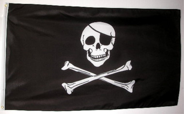 Skull Cross Bones Jolly Roger Pirate Flag