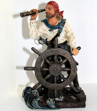Pirate at the Helm Statue