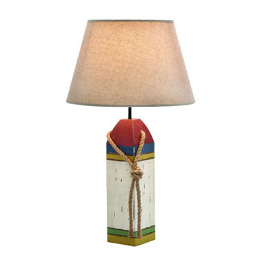 "24"" Wooden Lobster Float Table Lamp"