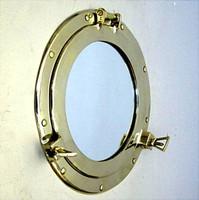 Brass Ships Working Porthole Mirrors - Medium