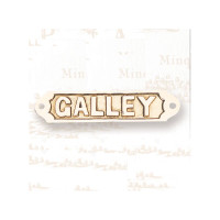 "6"" Brass GALLEY Name Plate"