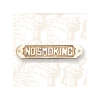 Brass No Smoking Plaque Sign