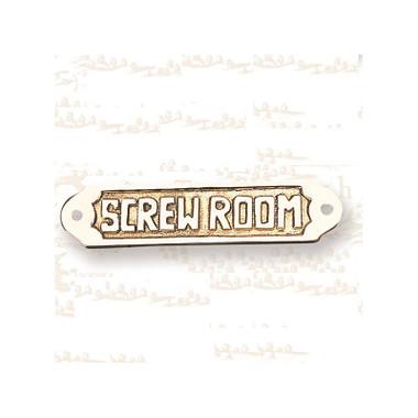 Brass Screw Room Plaque